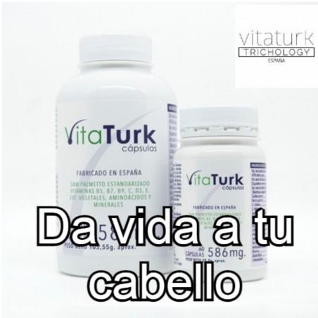 Vitaturk capsulas da vida a tu cabello. Aporta brillo, vitalidad, volumen. Anticaída. Estimula el crecimiento de los foliculos.
