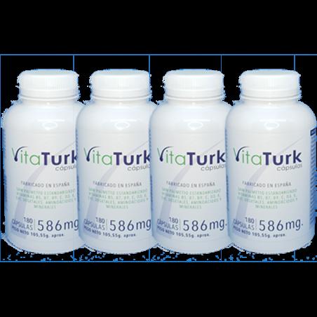 Pack ahorro para el tratamiento anual anticaída de las vitaminas naturales vitaturk. Capsulas blandas.