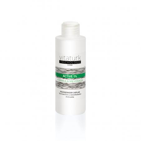 ACTIVE 1% Tónico anti alopécico, vasodilatador y termo activador del bulbo piloso